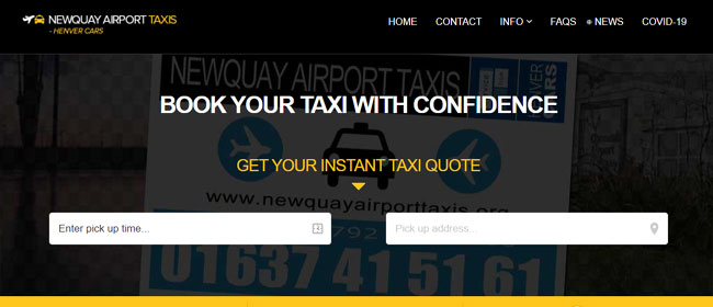 Newquay Airport Taxis