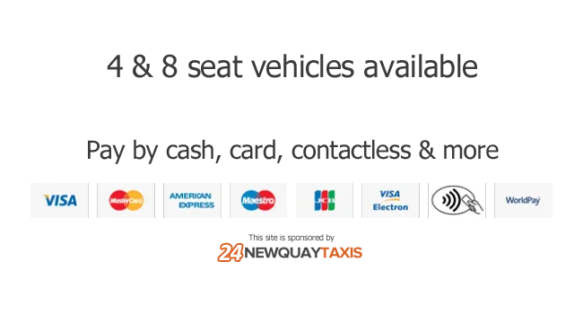 taxi newquay card payment types image